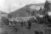 Bill Morrison, still from Dawson City: Frozen Time (2016, 120mins); First Avenue in Dawson CIty 1898 courtesy of Vancouver Public Library, Hypnotic Pictures and Picture Palace Pictures